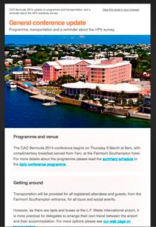 CAO Bermuda mailchimp