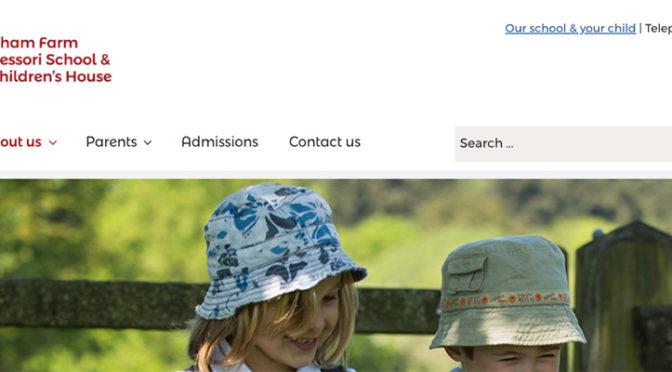 Grantham Farm Montessori website detail