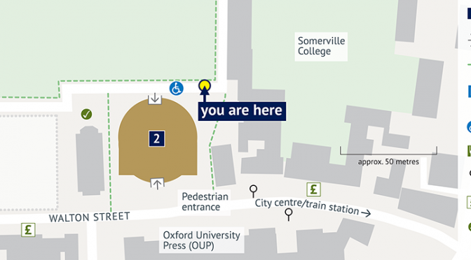 ROQ (Oxford University) wayfinding maps detail