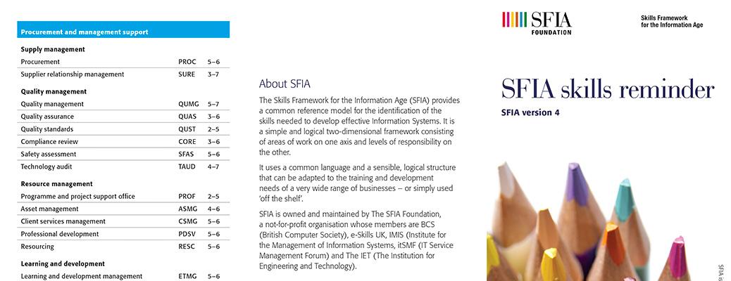 SFIA v4 reference leaflet detail