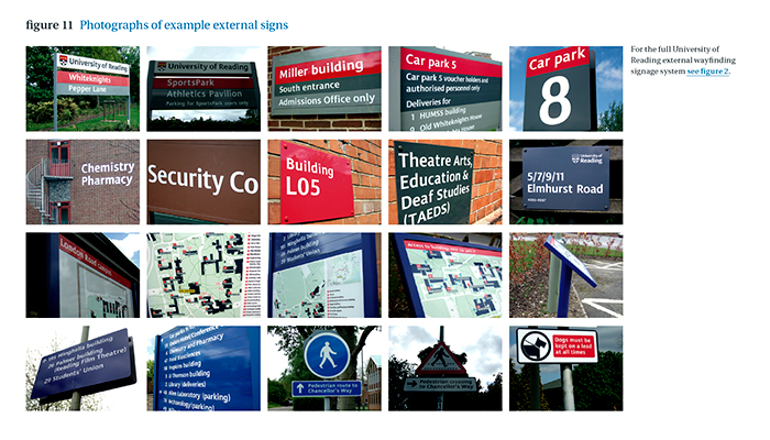 Univ Reading external wayfinding report page detail